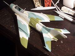1:72 Mikoyan-Gurewich MiG-19R/Lim-7R (ASCC code Farmer C), aircraft 2276 Red of 3rd Eskadra, 7th PLS, Marynarka Wojenna (Polish Navy); Siemirowice, late 1975 (Whif/Kovozavody kit conversion) - WiP (dizzyfugu) Tags: cold weird model war paint fighter force conversion aviation air navy poland polish camouflage kit farmer scheme kp lim mig fictional gurevich mikoyan 4color whatif modellbau mig19 whif marynarka wojenna lim7 dizzyfugu kovozavody siemirowice mig19r lim7r