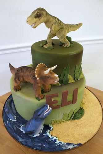 Dinosaur Cake for Eli