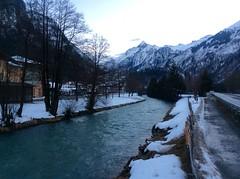 River through Kaprun (Crystal Ski) Tags: snow mountains river town kaprun