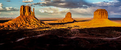 sunlight and shadows - explore (Marvin Bredel) Tags: arizona sky clouds landscape utah lightandshadows explore redrocks navajo monumentvalley warmlight oldwest americansouthwest movielocation coloradoplateau greatlight westernusa westmitten merrickbutte eastmitten canoneos5dmarkii mitttens canoneos5dii marvinbredel