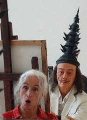 Me and Dali. They say the camera never lies.... or does it? - MOCA, Bangkok (ashabot) Tags: sculpture selfportrait art thailand bangkok artists artgalleries artinstallations mocabangkok
