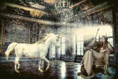 Magic Room (Swissrock) Tags: photoshop march room digitalart fantasy unicorn deviantart photoart challenge 2015 photomatix photart