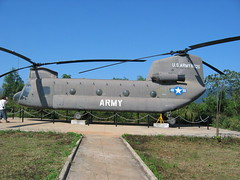US Army Helicopter in Vietnam DMZ