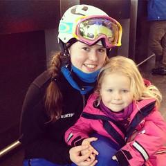 Silje and Selma (Agnes Siljekil) Tags: ski oslo selma silje tryvann skidor vinterpark