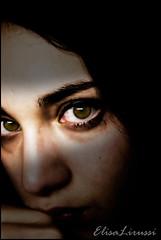 Fragile (Elisa Lirussi) Tags: light woman girl look donna eyes shadows sad darkness sony ombre occhi sguardo triste violence luci alpha drama fragile ragazza violenza