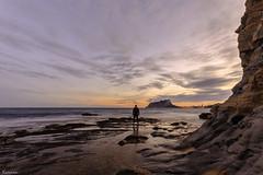 Cala Baladrar ( Alicante ) (Carmen Pla) Tags: atardecer mar agua alicante cala benisa calabaladrar elpenyaldifac