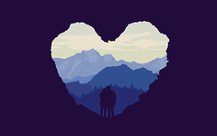 Buffa Rock (Mr McCay) Tags: life blue boy sunset wild camp wallpaper mountain color love nature girl birds silhouette rock forest photoshop landscape ian fire woods couple heart watch romance adventure faded valley fade layers cave block hikers pallet distance technique hue tone beginner techniques layered mccay buffa firewatch