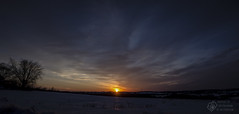 March 13 Sunset (CalTek Design) Tags: sunset sky sun snow ontario clouds landscape peterborough