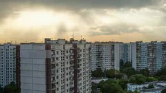 Timelapse of city with heavy clouds gathering in the sky (greycoastmedia) Tags: city light sunset sky urban panorama cloud sun sunlight house motion building sunshine architecture facade skyscape evening timelapse video ray exterior shine apartment cloudy move hide highrise housing change block panning cloudscape sunray transform multistory multistorey footage stockvideo greycoastmedia