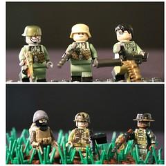 Steampunk world war 2 and Jungle figbarf (jaspera2014) Tags: lego leg custom customlego brickarms legomilitary citizenbrick gibrick