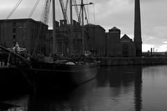 Albert Dock (aidan_wiseman) Tags: uk england bw water liverpool docks photography boat nikon ship waterfront kitlens d3200