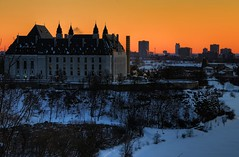 Supreme cold (beyondhue) Tags: winter sunset sky orange white snow ontario canada cold building ice architecture court river frozen downtown cityscape ottawa horizon hill parliament canadian supreme beyondhue