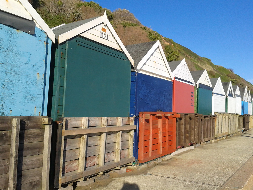 Beach huts Southbourne, Bournemouth - Mar 2015