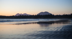 Sunset on Chesterman Beach (Cyrielle Beaubois) Tags: ocean travel sunset sea canada mountains reflection beach vancouver island sand waves bc britishcolumbia tofino chesterman 2016 canoneos5dmarkii cyriellebeaubois