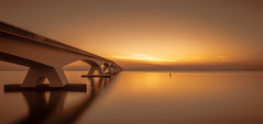 beautiful morning (Planetmonkeys) Tags: morning bridge sun netherlands beautiful clouds sunrise long exposure no clear 2016 zeelandbrug zeelandbridge