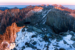 View From the Summit of Kriv (martinvaculk) Tags: sunset sky snow mountains slovakia sk mountainlake hightatras vysoktatry preovregion
