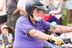 Purple rider - Jacaranda Parade 2015 (sbyrnedotcom) Tags: 2015 people events grafton jacaranda parade rural town motorbike rider bike purple beard nsw australia