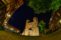 KlosterDruebeck (FotoCaching) Tags: kloster drbeck fisheye alpha 6000 a6000 sony walimex 8mm harz explore architektur architecture non tree pflaster turm trme tower night lzb lte bulb exposure langzeitbelichtung outdoor