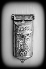 Vintage Mailbox in Black and White (jrbutler90) Tags: photography nikon d200 darkroom black white mailbox vintage old history past detail