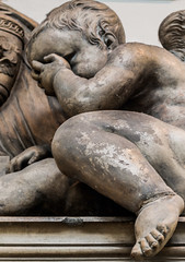 """Oh no... she's got me those frilly nappies (diapers) again"".... (+Pattycake+) Tags: sculpture church statue stone ancient toes head monotone diapers nappies ohno frilly stpetermancroft stpetermancroftchurch norwichuk"