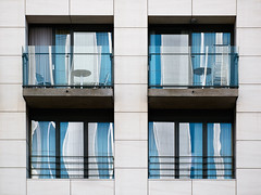 blu (godelieve b) Tags: blue brussels white reflection window lines geometry bruxelles minimal reflect abstraction fentre gomtrie cadre lignes