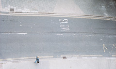 Ants (joshuacolephoto) Tags: trenchard street carpark arial down streetphotography road concrete person walk walking above grey bristol uk england nikon fe2 kodak portra portra400 film 135 35mm
