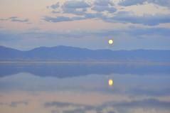 Buck moon (Great Salt Lake Images) Tags: summer moonrise causeway mileone farmingtonbay greatsaltlake utah