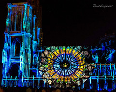 Illuminations Cathédrale 2016 - Deep Blue & Rosace (Cloudwhisperer67) Tags: lights fantastic amazing 2016 art illumination illuminations strasbourg cathedral 760d canon light nightscape urban city cityscape night cathédrale beautiful shadow colorful alsace france cloudwhisperer67 dark darkness bright vibrant colors color blue bleue bleu yellow new lightening wonderful colored scenery scene scape architecture rural exhibition travel 2014 trip journey photography magic photo street town fun deep rosace