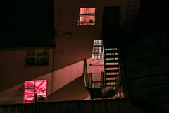 Johannesburg, midnight. (elsableda) Tags: houses windows light house building home window night stairs canon dark southafrica lights long exposure darkness surreal midnight walls johannesburg joburg nightscapes