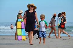 Everett & Mommy On The Beach (Joe Shlabotnik) Tags: 2016 beach higginsbeach sue boogieboard maine july2016 everett proudparents afsdxvrnikkor55300mm4556ged