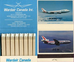 Wardair Canada  matches (kitmasterbloke) Tags: heritage vintage aircraft aviation gift airline boeing smoker matches promotional jumbojet matchbox dc1030 cffun cgxrb wardaircanada
