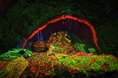 Sterling Hill Mine (Mannington Creek) Tags: mine floresent green red bright blacklight nj rock minerals dark nature natural ore willemite rainbow tunnel