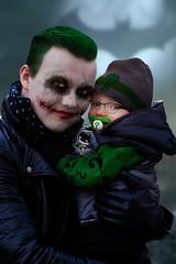 Little Riddler and uncle Joker (HelloValtteri) Tags: city batman joker gotham riddler digitalmakeup