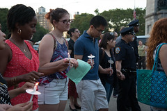 Peace Vigil -23 (MosaicMarj) Tags: brooklyn peace unity faith parkslope vigil candlelightvigil grandarmyplaza blacklivesmatter ericladams altonsterling philandocastile delrawnsmall whitepeopleforblacklives 3in3days
