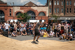 Break dancing competition at Artscape 2016 (Dave Fine) Tags: festival art architecturalelement md city baltimore artfestival unitedstates outside crowd dance dancing breakdancing bmore artscape usa maryland stage outdoors us