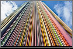 La Defense (Franois Leroy) Tags: sculpture paris france seine architecture de couleurs ile verre dfense moretti chemine puteaux fibre hauts aeration franoisleroy