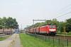 20160723 DBC 189 089 + staal, Deventer (Bert Hollander) Tags: deventercolmschate dvc dbcargo loc 189089 eloc locomotief br189 rood eurosprinter schenker tata staaltrein omgeleid cargo goederen dbc trein 45743bvhcbh