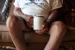 (actualbears) Tags: morning coffee grandfather sofa