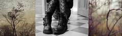 Donnes moi juste un peu de toi, un peu de ton me (M-Vi) Tags: triptyque nature black chaussures shoes collants penses excentricit me poesie d700 souvenir