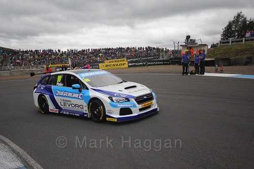 Jason Plato on the grid during the BTCC Knockhill Weekend 2016