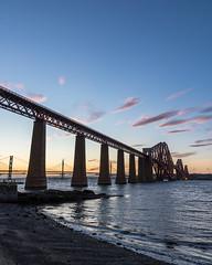 Forth Bridge (dalejckelly) Tags: canon sunset landscape scotland forth rail bridge railway bridges sun summer golden hour sky clouds coast coastline shore sea seaside 7d 7dmarkii
