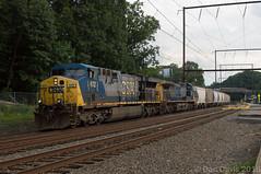 Q410 @ Woodbourne, PA (Dan A. Davis) Tags: csx freighttrain locomotive pennsylvania woodbourne langhorne railroadphotography cw46ah cw60ac cw44ac ac44cw q410