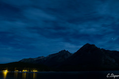 Midnight on lake Minnewanka (christianstapor) Tags: lake lakeminnewanka fuji fujifilm fujifilmxt10 xt10 night banff alberta canada stars