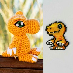 HamaBead and Amigurumi (JamesGoblin) Tags: hamabead amigurumi toy trinket knit knitting creative diy sweet cute gift gifts instagram dragon dragons monster monsters