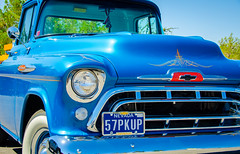 Classic Cars (jetdragger) Tags: 1957 chevy pickup 3100 blue outside pinstripe classic