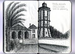 MoleskineFAROL_CascaisGuia (B Moreira) Tags: moleskine moleskinedraw cascais farol lighthouse