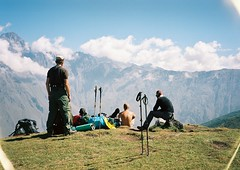(Nikolay Kulivets) Tags: 35mm film olympusmjuii mjuii kodak georgia kazbek caucaus alpinism people men man landscape mountain clouds