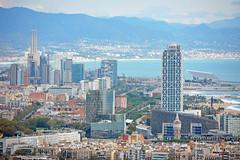 Cityscape - Barcelona (cpcmollet) Tags: barcelona view catalonia vista city urban skyline beach mediterranean arquitectura architecture sea mar bcn costa playa europe catalunya building edificios cityscape