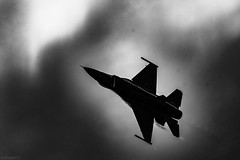 F-16 (william672) Tags: jet aircraft military black white plane vehicle clouds
