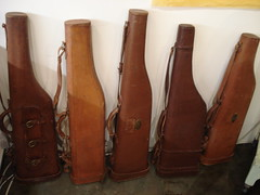 "LEATHER MUTTON LEG GUN CASES, ANTIQUE. • <a style=""font-size:0.8em;"" href=""http://www.flickr.com/photos/51721355@N02/30201870211/"" target=""_blank"">View on Flickr</a>"
